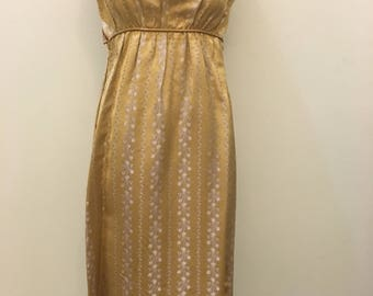 1950s Gold Dress with a matching Bolero Jacket