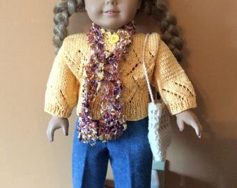 "American Girl 18"" doll 4 piece sweater set"