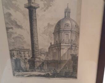 Colonna Trajana etching REDUCED PRICE