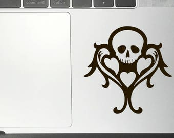 SKULL AND HEART Vinyl Decals/Stickers for Car Macbook iPhone iPad