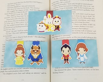 Beauty And The Beast - Bookish MagMarks - Magnetic Bookmarks