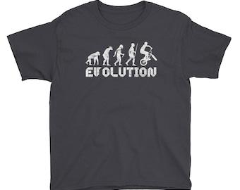 Evolution Of Man BMX T-Shirt Youth
