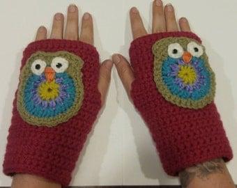 Handmade Owl Handwarmers