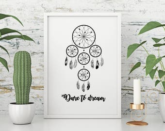 Dare to Dream - A4 printable image