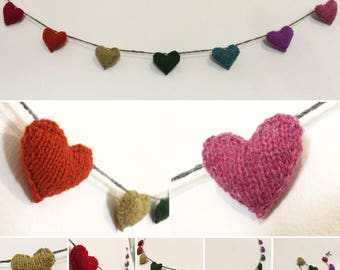 Rainbow Heart Bunting - Candy Cane