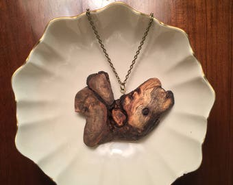 Rustic Burl Wooden Necklace, Tree Slice Necklace, Nature Necklace, Boho Necklace