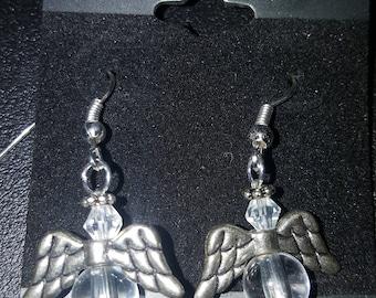 LID Enterprises, Hand Crafted Earrings, Crystal Angel