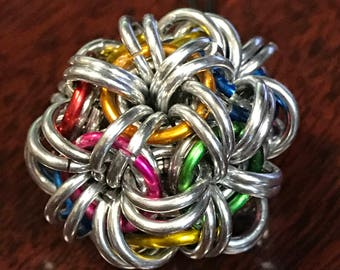 Rainbow Chainmaille Fidget Ball