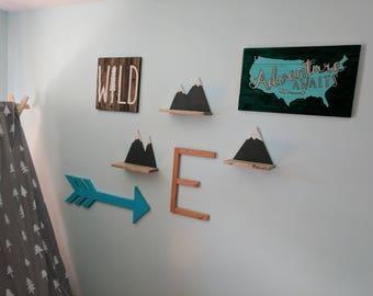 Mountain Shelves - Set of Three