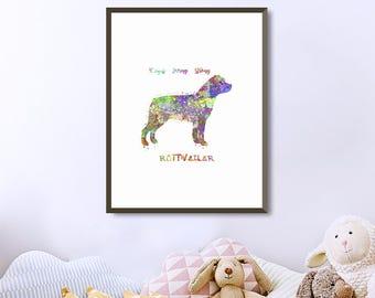 Rottweiler wall art Etsy