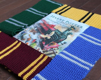 Harry Potter house set of Crochet Scarves