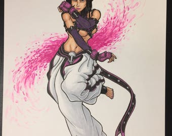 Street Fighter Juri illustrated by Sergio Azevedo