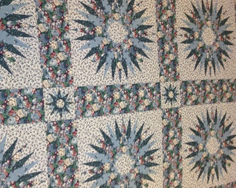Vintage Quilting Fabric, Quilters Cheater Fabric, Quilting Cotton