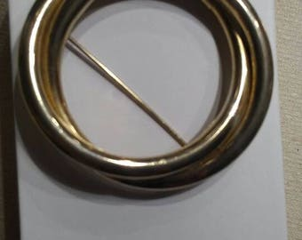 Vintage Golden Circle Brooch Pin
