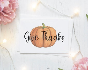 give thanks card, thanksgiving card, give thanks, printable cards, printable stationary, happy thanksgiving, fall cards, thank you cards