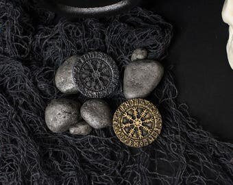 Runic Lullaby pin, Rune medallion brooches resin vintage gold and silver, Clasp Viking cloaks, fantasy brooch bag, backpack, scarf, Vikings