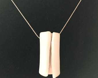 A kind porcelain pendant necklace