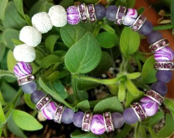 Beaded Essential Oil Diffuser Bracelet for Aromatherapy