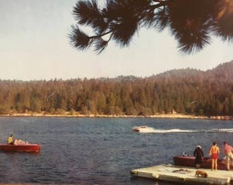 Vintage Postcard of Boaters on Lake Arrowhead