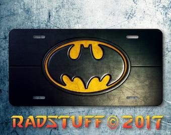 Cool Batman Logo Icon Novelty Vanity License Plate Aluminum