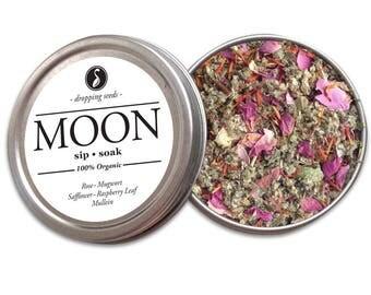 MOON Herbal Blend - Chakra Tea - Herb Blend - Herbal Magic, Diy Herbal Blend, Chakra Blend, Herbal Tea Blend, Herbal Soak, Herbal Bath Salts