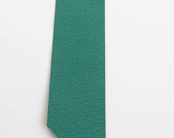 Green leather bookmark