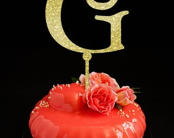 wedding cake topper letter g unique cake topper etsy 26348