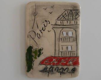 Paris cafe fridge magnet