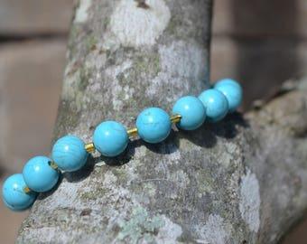 SALE ITEM-Turquoise Mala Bead Bracelet