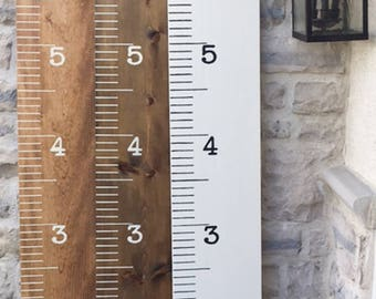 Handpainted Wood Growth Chart - Personalized Growth Chart - Growth Chart Ruler - Ruler Growth Chart - Painted Growth Chart - Plan B Decor