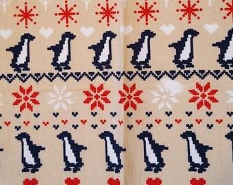 Dribble Bandana Bib- Penguin scandi