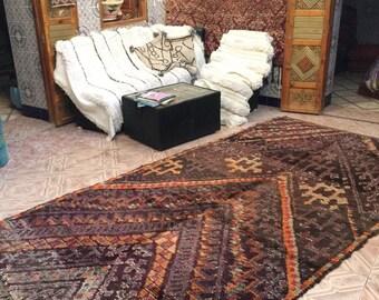 Beni M'Guild vintage  carpet,340x190cm, Moroccan carpet, wool rug, Beni M'Guild rug, vintage carpet, berber textiles, berber carpet,