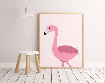 Flamingo Printable Wall Art Poster, Kids room decor, Nursery decor, Flamingo print, Flamingo poster, Flamingo art, Flamingo decor