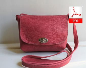 Crossbody Bag Pattern – Easy Sewing Pattern PDF to Make This Cute Crossbody Bag. Digital Download