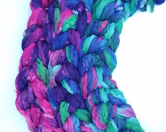Hand painted warp, handwoven scarf, babywrap, handwoven blanket, goodnight loom, premeasured warp, supima