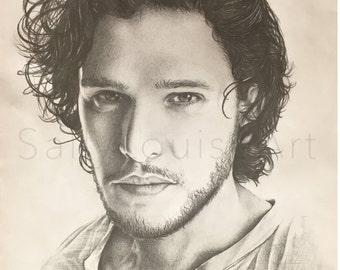 Prints Kit Harington Drawing