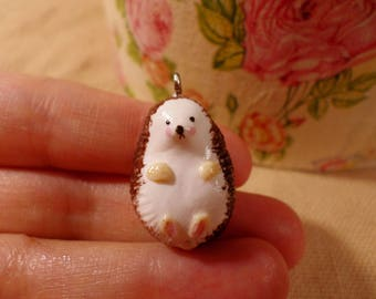 Tiny Hedgehogs, Cute Hedgehog jewelry, Hedgehog pendant, hedgehog charm, kawaii hedgehog, adorable hedgehog, baby hedgehog, small hedgehog