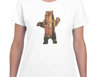 Bear Shirt, Bear T-Shirt, Women's Graphic T Shirts, Womens Tshirt, Gifts for Her, Mama Bear T-shirt, Bear shirt, Graphic Tee Silhouette Bear
