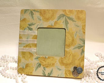 Antique Floral Themed Frame