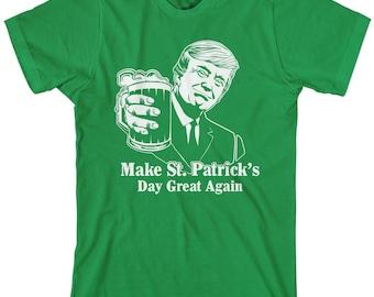 St. Patrick's Day Great Again Men's T-Shirt Funny Irish
