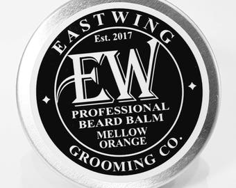 Professional Beard Balm in Mellow Orange aroma. Free UK Shipping & free gift bag