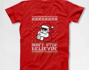 Ugly Christmas Shirt Santa Claus Holiday Clothing Xmas Outfits Christmas Present Ideas Holiday Season Xmas Clothes Ugly Xmas TEP-553