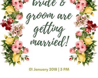 Bright Floral Wedding Invitation