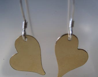 Heart of Gold earrings - sterling silver and gold fill