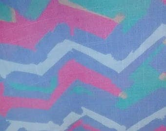 Vintage 1980's pastel poly/cotton blend fabric 3 3/8 yards