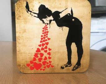 Banksy Coaster #27 - Banksy Gift - Banksy Coaster - Custom Coaster -Gift for Her - Gift For Him - Fridge Magnets - Banksy Magnet - Souvenir