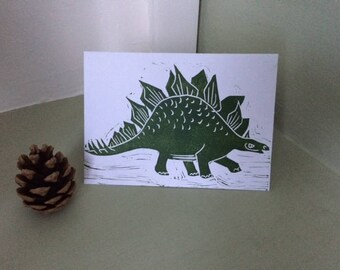 Card - Green Stegosaurus