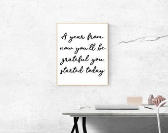 Inspirational motivational printable quote - Budget friendly - Home decoration - Wall art - Office Decoration - Instant download