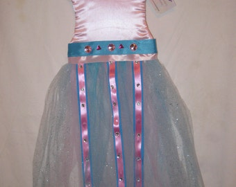 Pink and blue tutu hairbow holder