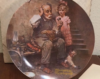 "1978 Norman Rockwell Plate ""The Cobbler"""